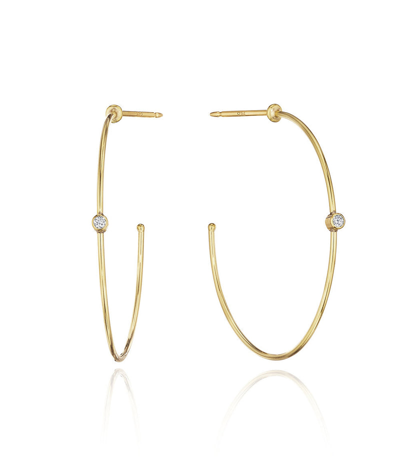 Aura Diamond Hoop Earrings