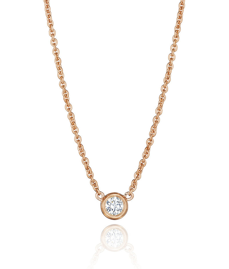 Aura Solitaire Necklace
