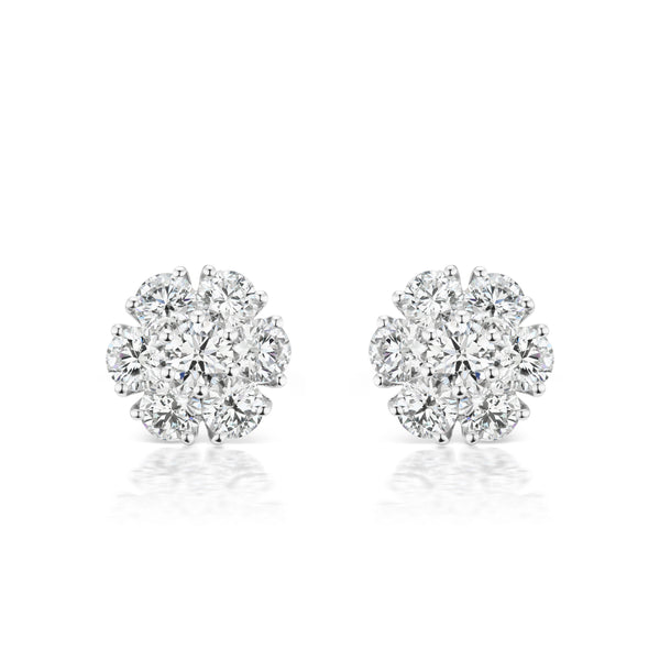 Posey Diamond Earrings, medium