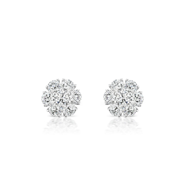 Posey Diamond Earrings, extra-small