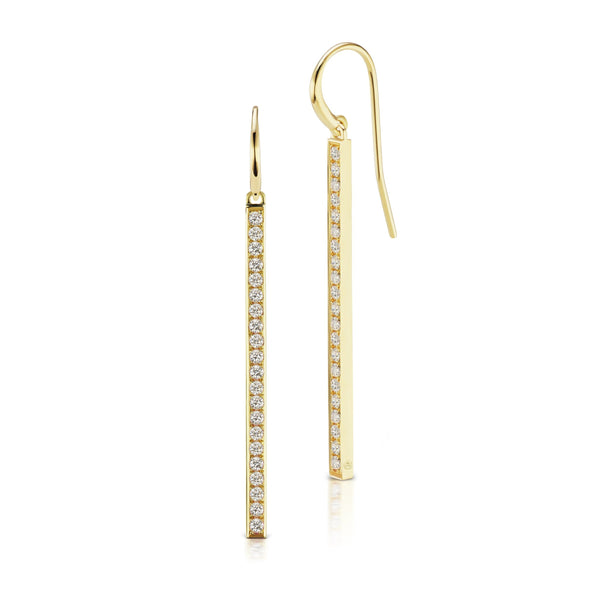 Long Bar Drop Earrings