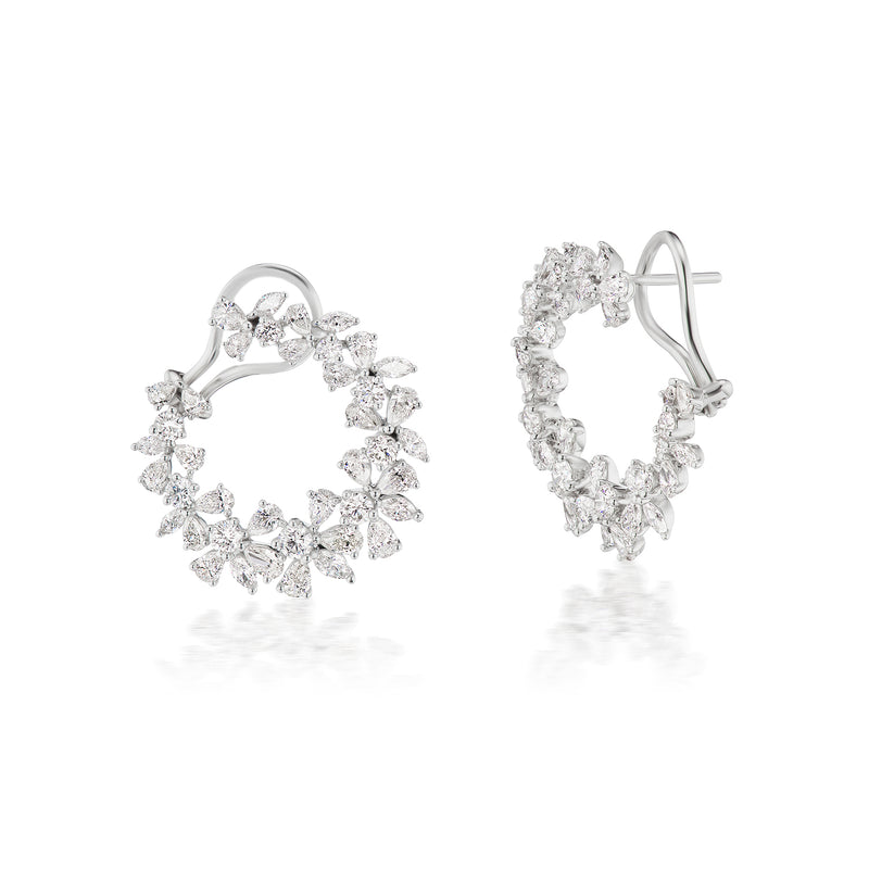 Constellation Diamond Hoop Earrings