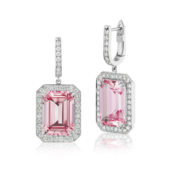 Constellation Pink Topaz & Diamond Earrings