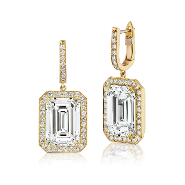 Constellation White Topaz & Diamond Earrings