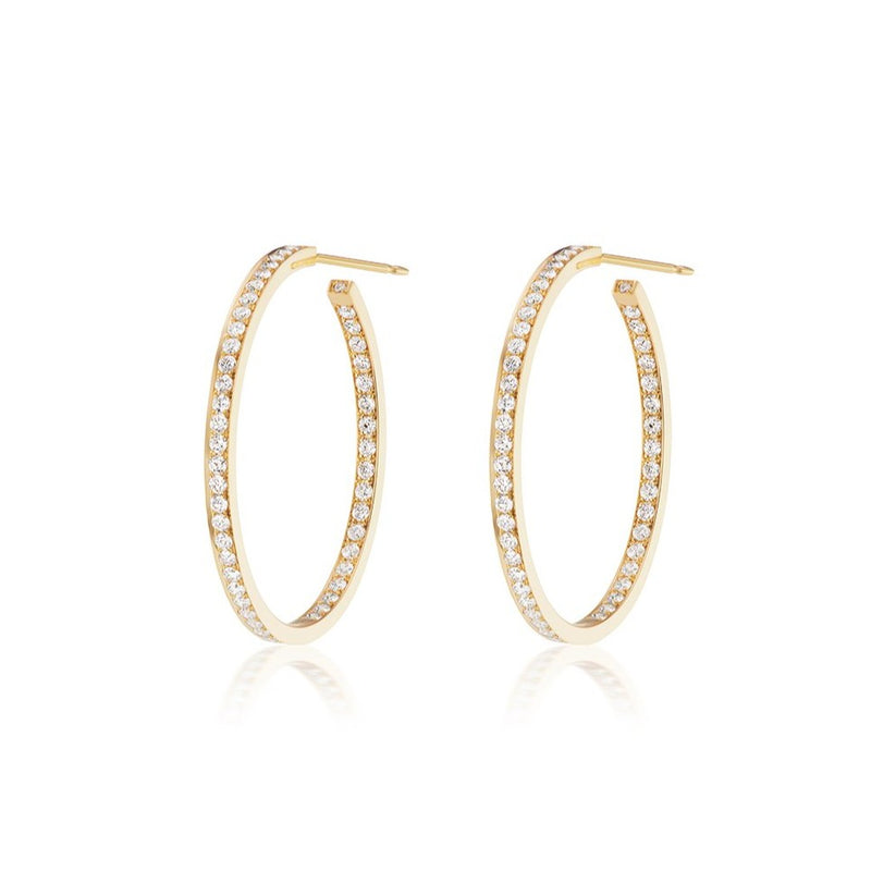 Constellation Diamond Hoops, Medium