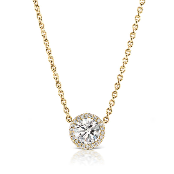Halo Diamond Necklace