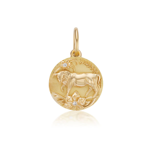 Mini Taurus Zodiac Medallion