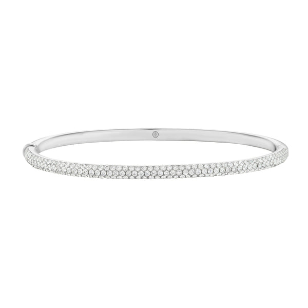 Halo Diamond Bangle