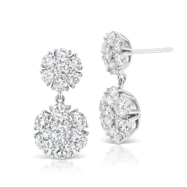 Posey Double Drop Diamond Earrings