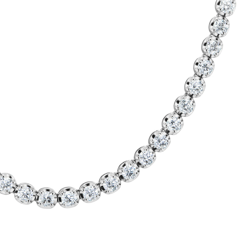 Halo Diamond Riviere Necklace