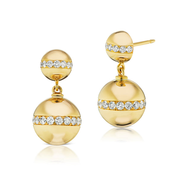 Halo Diamond Sphere Earrings