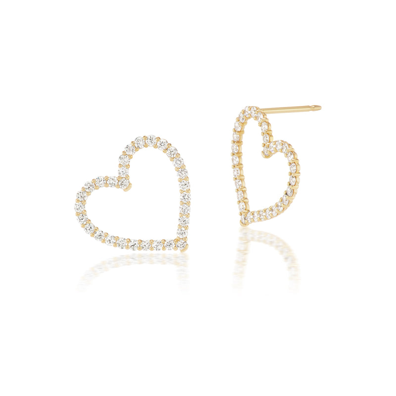 Diamond Confetti Sweetheart Earrings