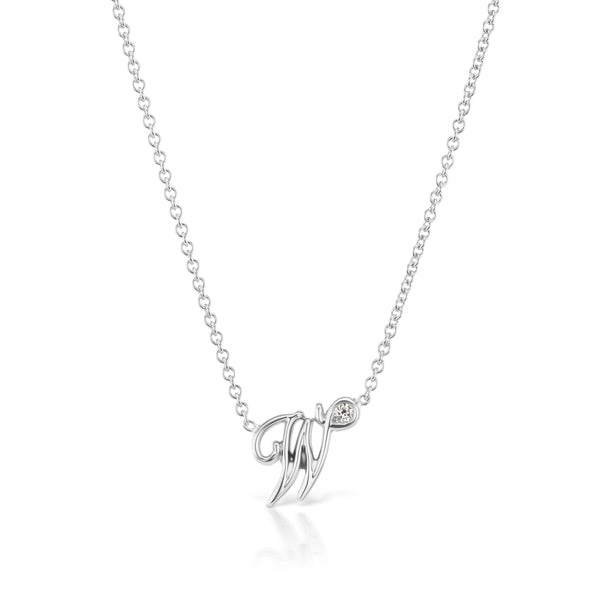 Memoir Script Initial Necklace