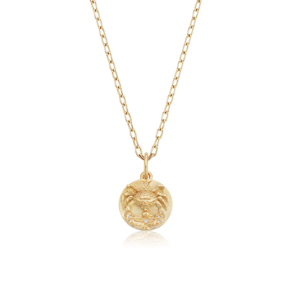 Mini Cancer Zodiac Medallion