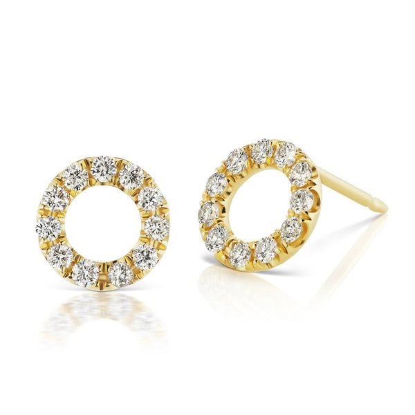 Halo Circlet Diamond Earrings