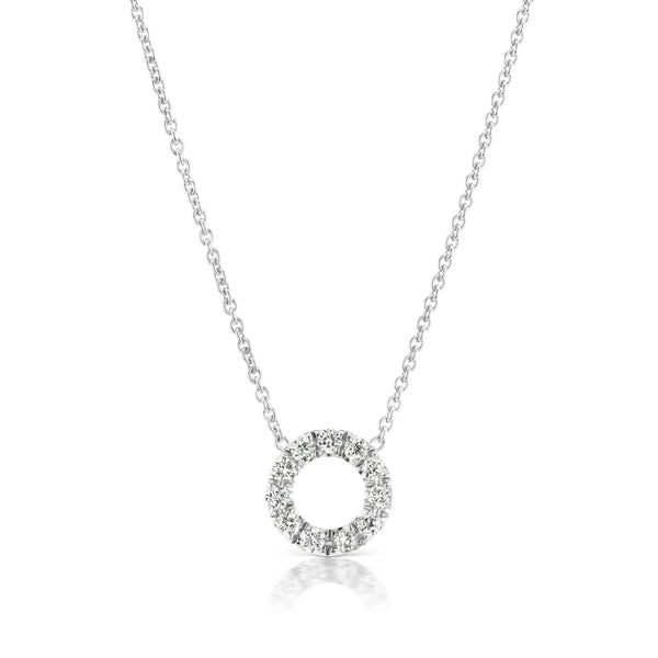 Halo Circlet Diamond Necklace