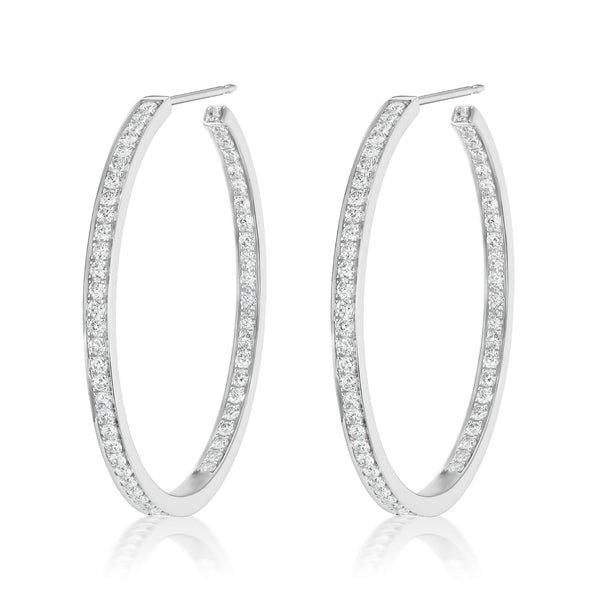 Constellation Diamond Hoops