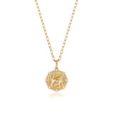 Medium Sagittarius Diamond Zodiac Medallion