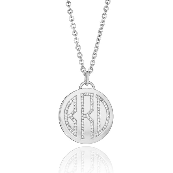Memoir Diamond Monogram Medallion
