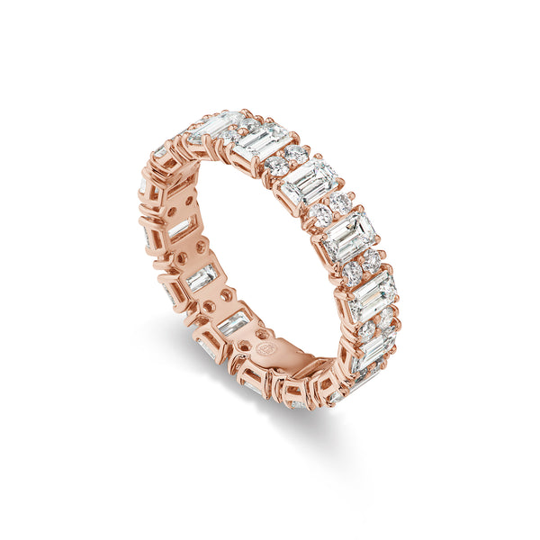 HALO MIXED CUT DIAMOND ETERNITY BAND