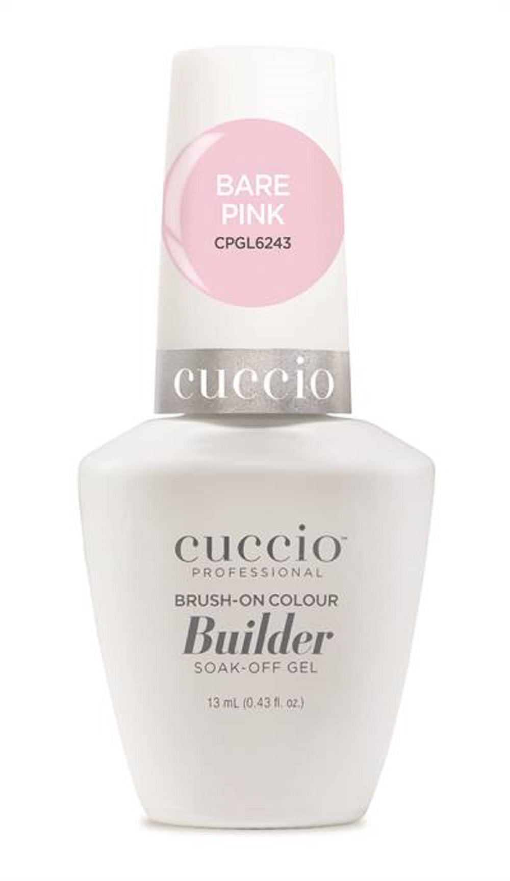 Cuccio Professional Brush-On Gel Colour Builder Soak-Off Bare Pink  Gel 13 m