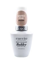 Load image into Gallery viewer, Cuccio Professional Brush-On Gel Colour Builder Soak-Off Naked Pink Gel 13 m
