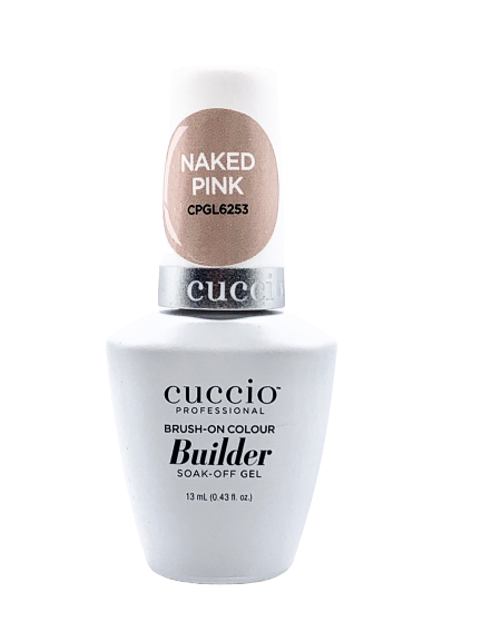 Cuccio Professional Brush-On Gel Colour Builder Soak-Off Naked Pink Gel 13 m