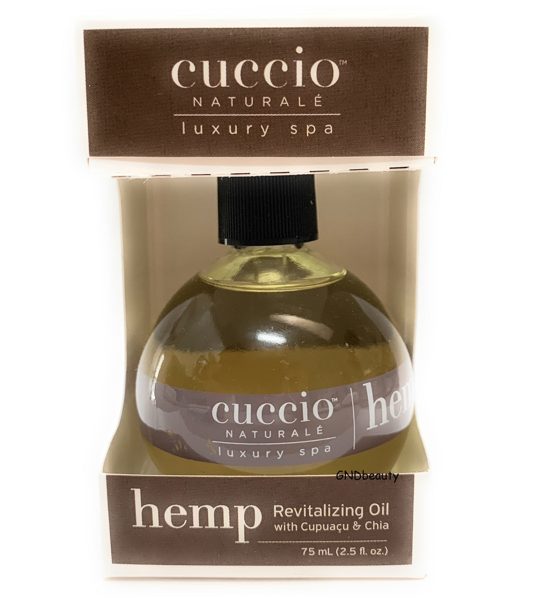 Cuccio Naturale HEMP Revitalizing Oil with Cupuacu and Chia 2.5 fl.oz