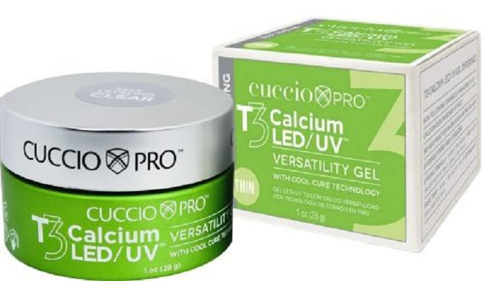 Cuccio Pro T3 Calcium Self-Leveling  LED UV Versatility Gel Clear 1 oz
