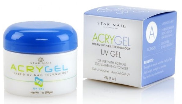 Star Nail Acrygel Hybrid UV Nail gel White 1 oz