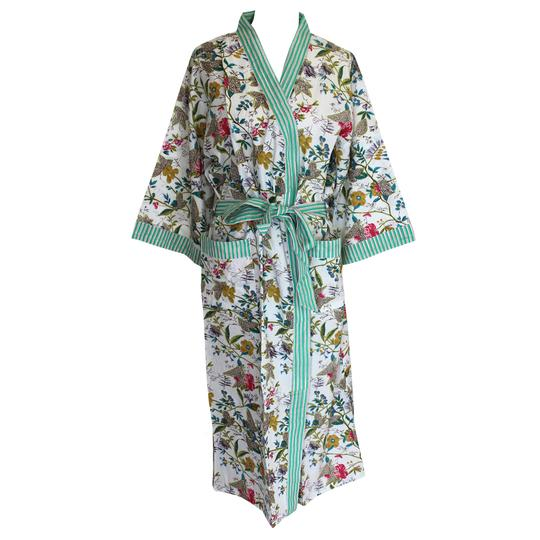 White Leaf Dressing Gown