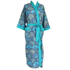 Blue Paisley Dressing Gown