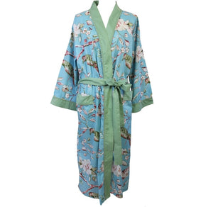 Blue Blossom Paisley Dressing Gown