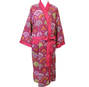Raspberry Paisley Dressing Gown