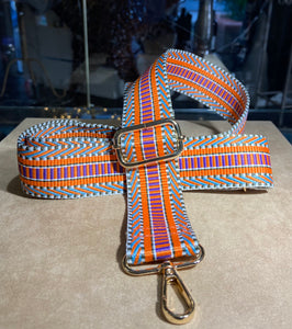 Orange Aztec Bag Strap