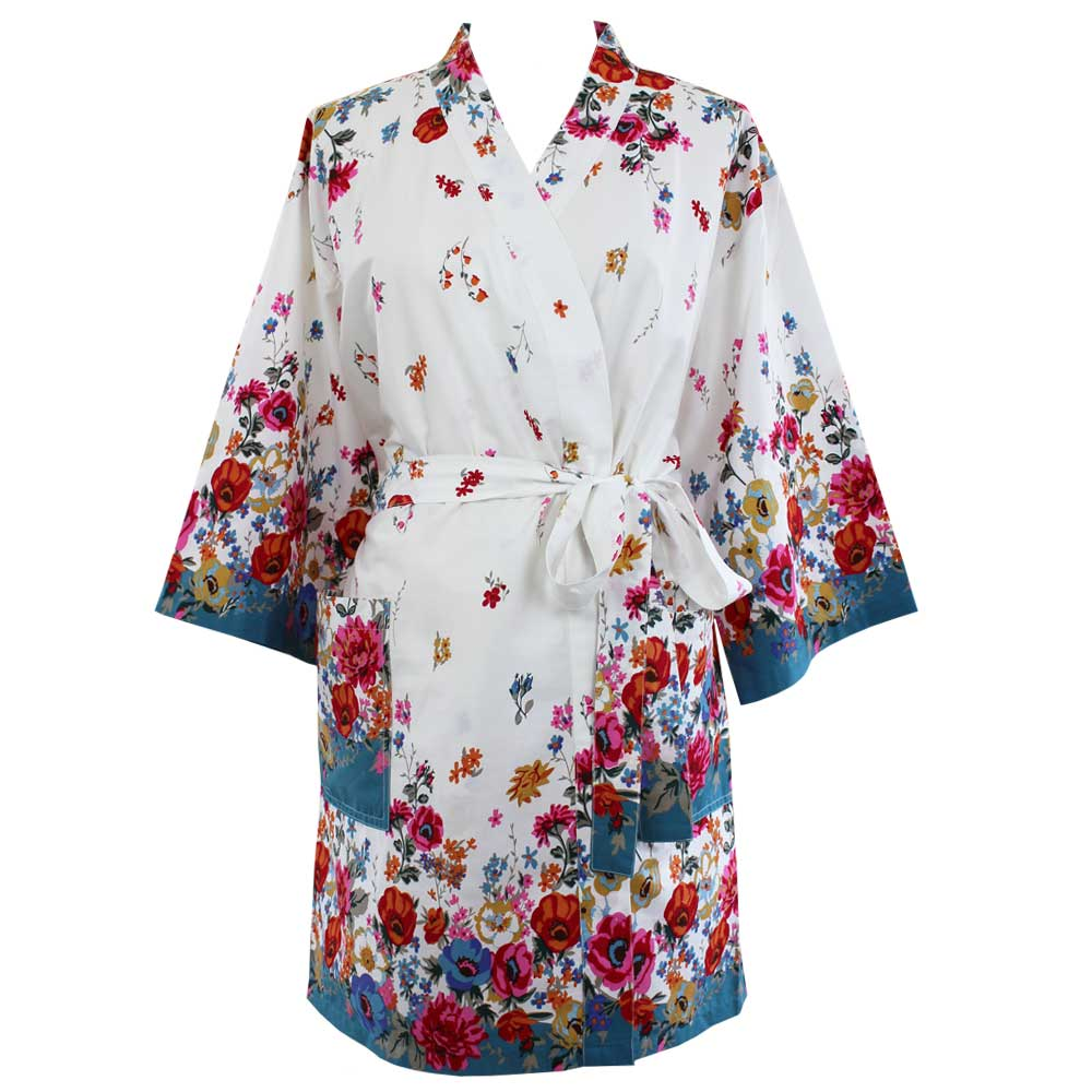 Floral Poppy Dressing Gown