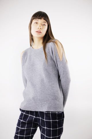 Cold shoulder Jumper in Grey