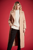ANSLEY TIE AROUND COAT IN CAMEL