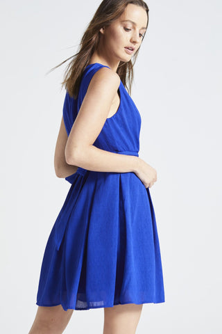 BLUE 'SORRENTI' WRAP DRESS