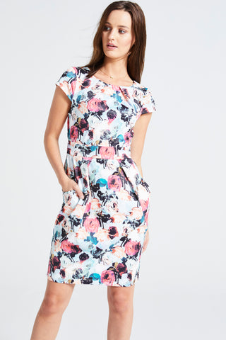 FLORAL PRINT 'PACEY' TULIP DRESS