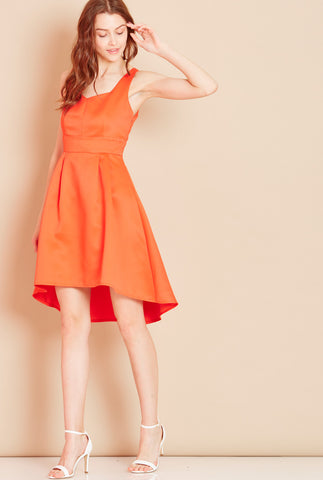 PLAYGROUND<BR> Bow Back Dress in Orange