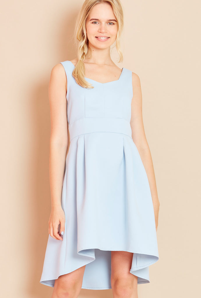PLAYGROUND<BR> Bow Back Dress in Sky Blue
