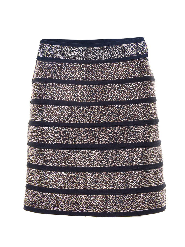 SHINE<BR> Embellished Metallic Skirt