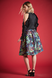 TRIXIE PRINTED SKIRT IN NAVY