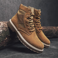 Frosted Lace-up Vintage British Style High-top Men's Martin Boots