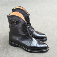 Autumn Winter New British Lace-up Mid-tube Men's Boots