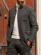 Men's Casual Warm Long-sleeved Suit Jacket