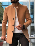Modern Pure Color Single-breasted Coat