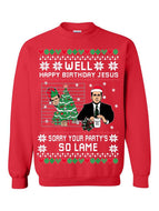 Prank Christmas Print Crew Neck Sweater
