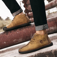 Large Size Handmade High-top Plus Velvet Outdoor Warm Cotton Men's Boots